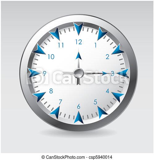 Ilustración de vectores de un reloj - csp5940014
