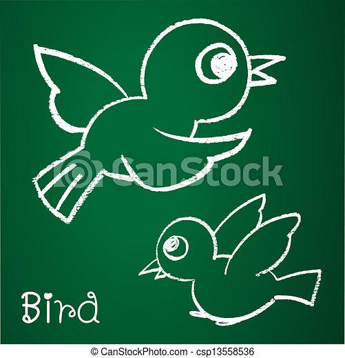 Vector image of a bird  - csp13558536