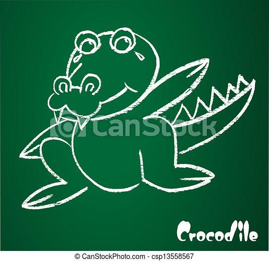 Vector image of a crocodile - csp13558567