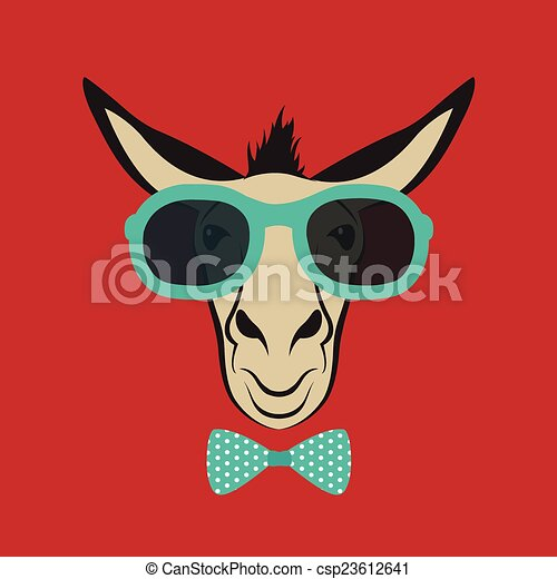 243717f835 Vector image of a donkey wearing blue glasses jpg 450x470 Donkey with  sunglasses