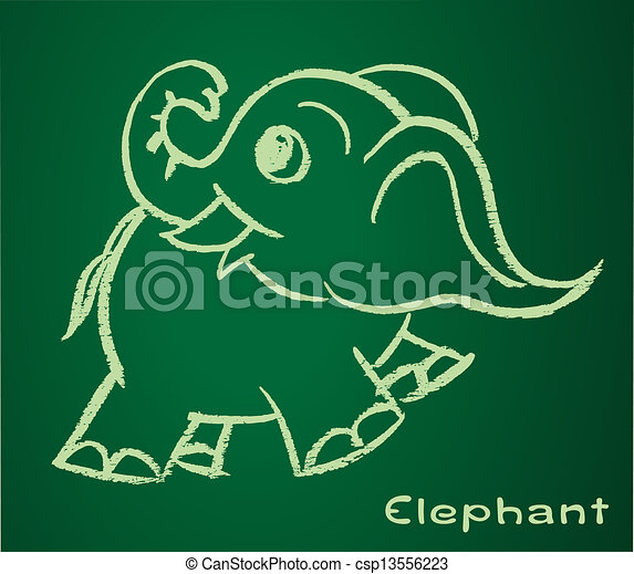 Vector image of a elephant - csp13556223
