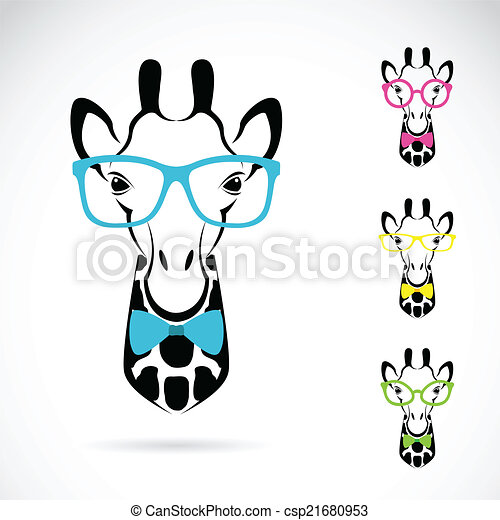 Vector image of a giraffe glasses on white background. - csp21680953