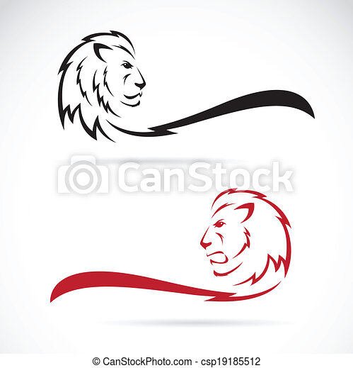 Vector image of a lion - csp19185512