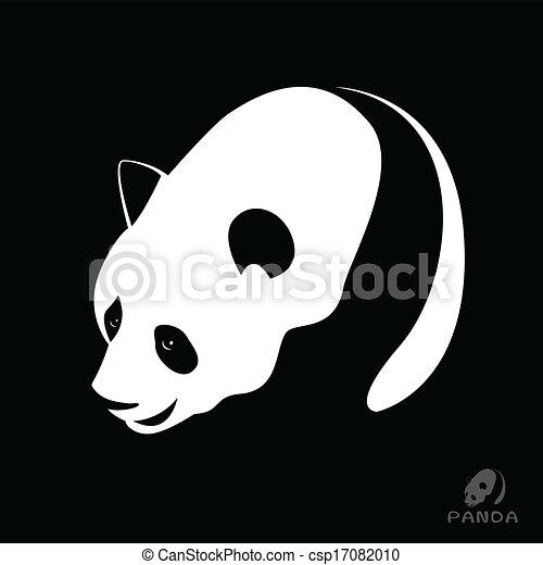 Vector image of a panda - csp17082010
