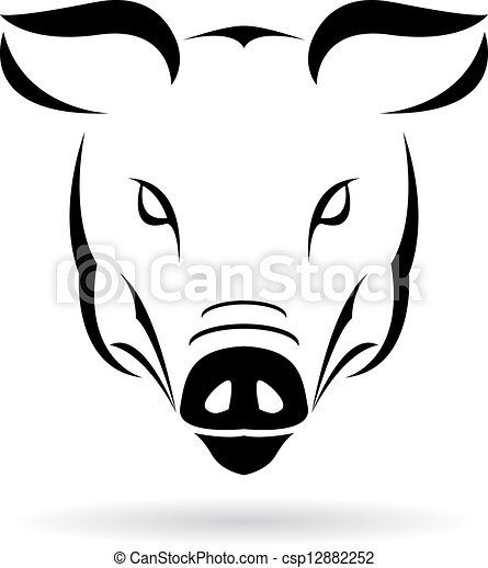 Vector image of a pig - csp12882252