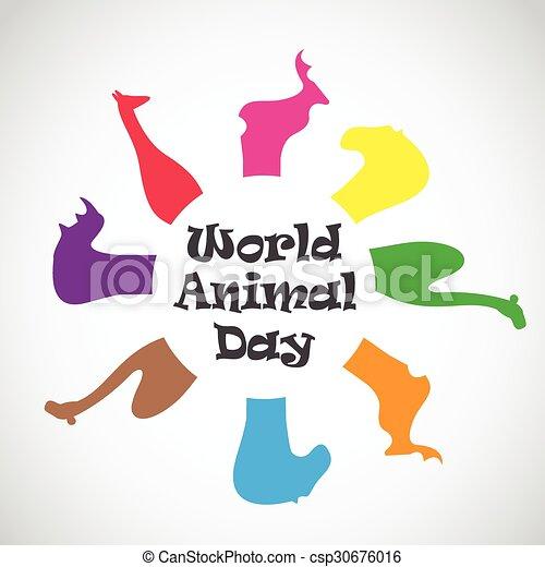 Vector image of an animal groups. wildlife. world animal day.