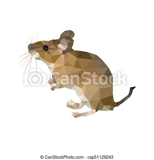 Vector image of an bull poligon on a white background - csp51129243