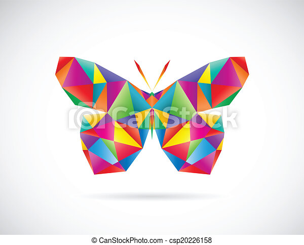 Vector image of an butterfly design - csp20226158