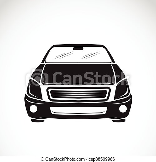 Vector image of an car design on white background, Vector car logo for your design. - csp38509966
