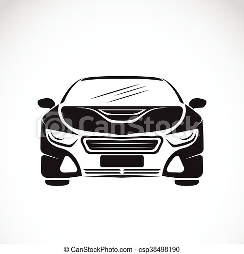 Vector image of an car design on white background, Vector car logo for your design. - csp38498190