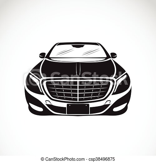 Vector image of an car design on white background, Vector car logo for your design. - csp38496875