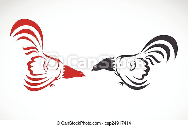 Vector image of an cock on white background - csp24917414