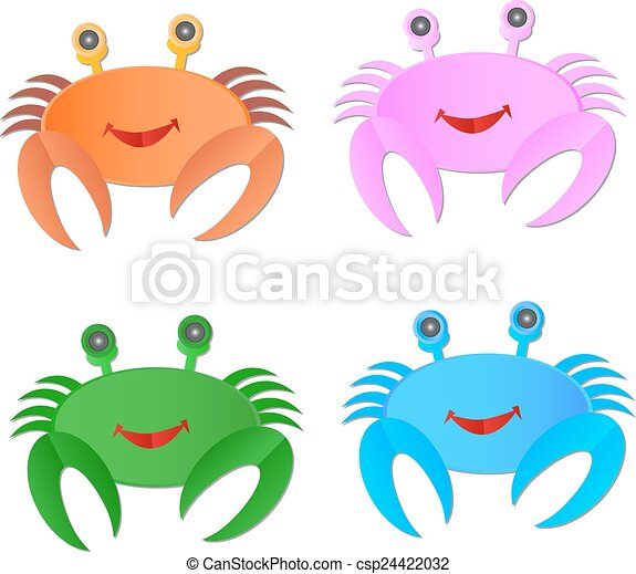 Vector image of an crab on white background - csp24422032