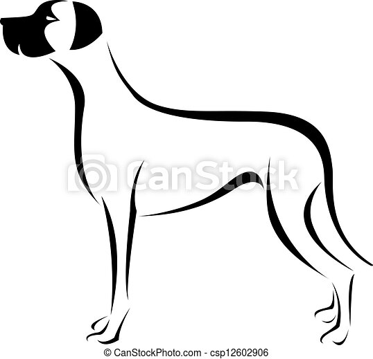 vector image of an dog great dane on white background rh canstockphoto com great dane head clipart great dane graphics clipart