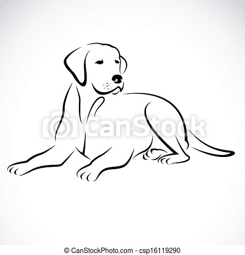 Vector image of an dog labrador - csp16119290