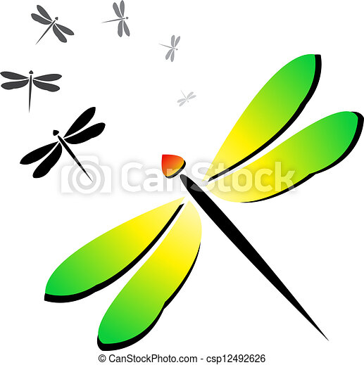 Vector image of an dragonfly - csp12492626