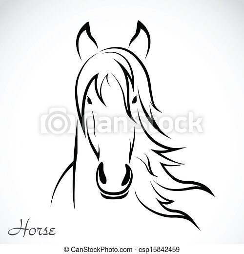 Vector image of an horse - csp15842459