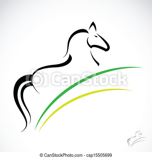 Vector image of an horse - csp15505699
