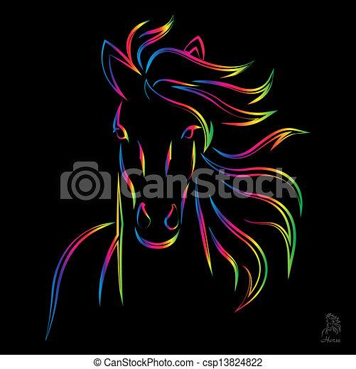 Vector image of an horse  - csp13824822