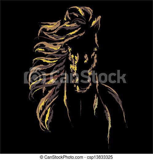 Vector image of an horse - csp13833325