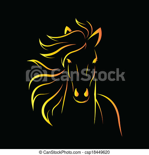 Vector image of an horse - csp18449620
