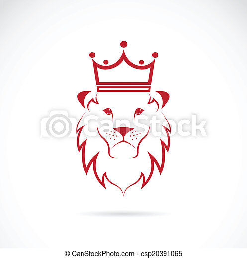 Vector image of an lion crowned - csp20391065