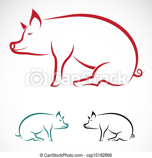 Vector image of an pig - csp15182866