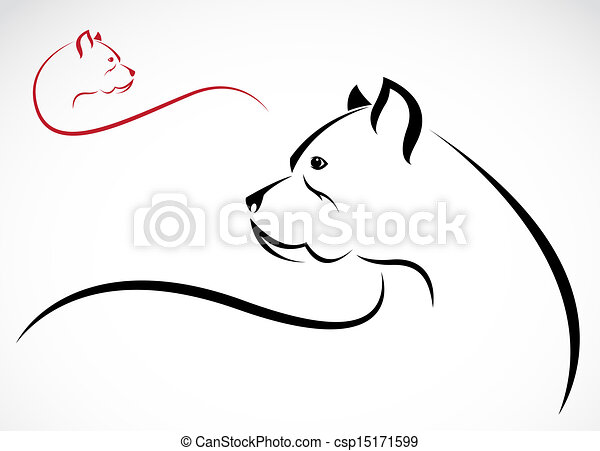 Vector image of an pitbull - csp15171599