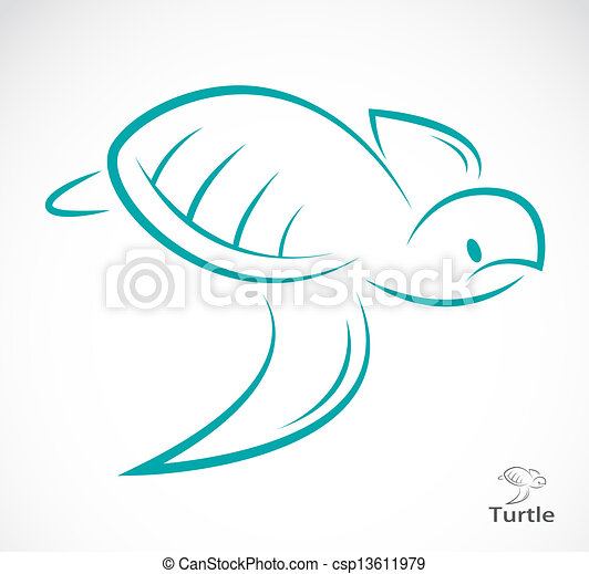 Vector image of an turtle - csp13611979