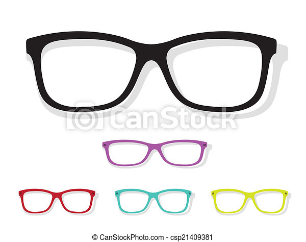 Vector image of Glasses - csp21409381