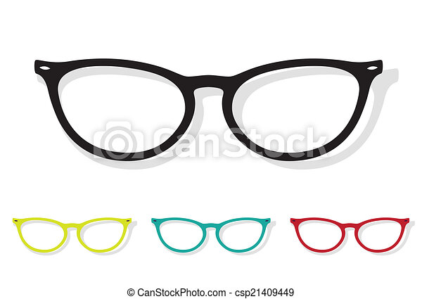 Vector image of Glasses - csp21409449