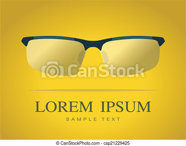 Vector image of Glasses - csp21229425