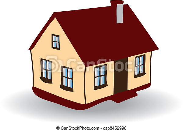 Vector image of House - csp8452996