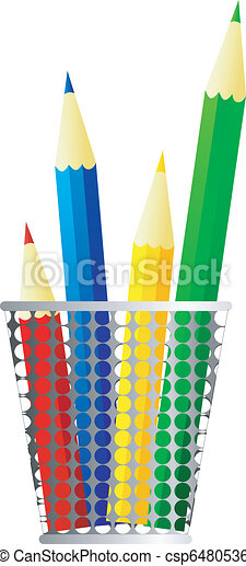 Vector image of pencils - csp6480536