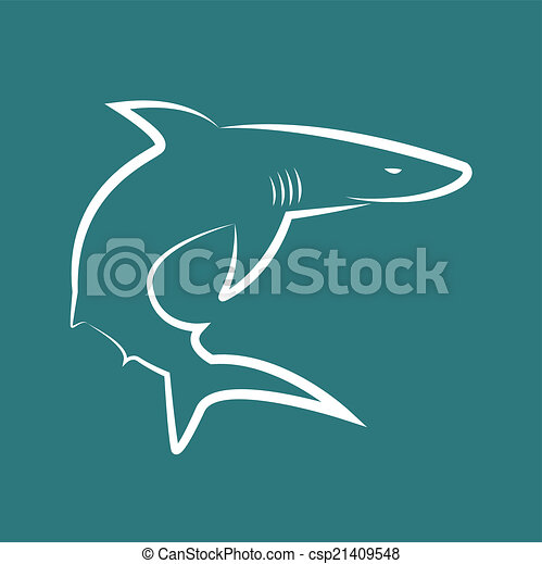 Vector image of sharks - csp21409548