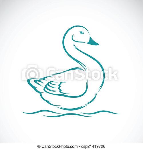 Vector image of swan - csp21419726
