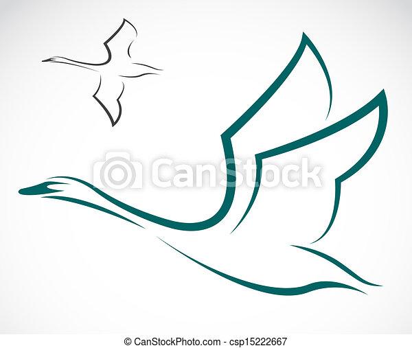 Vector image of swans - csp15222667