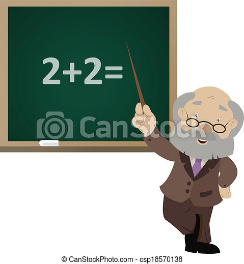 Vector image of the cartoon smiling teacher - csp18570138