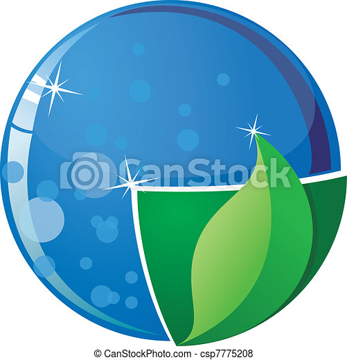 Vector image of the globe with parts of water and land - csp7775208