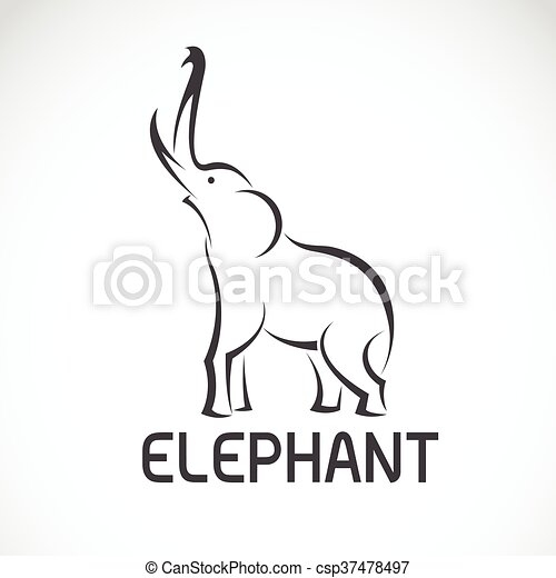 Vector images of elephant design on a white background. - csp37478497