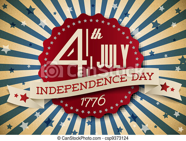 Vector independence day badge / poster - csp9373124