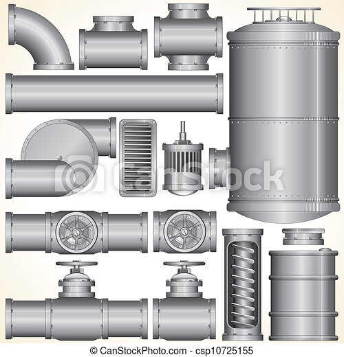 Elementos industriales del vector - csp10725155