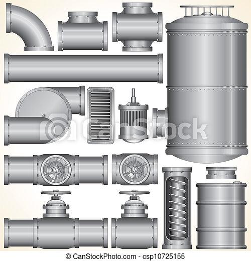 Vector Industrial Elements - csp10725155