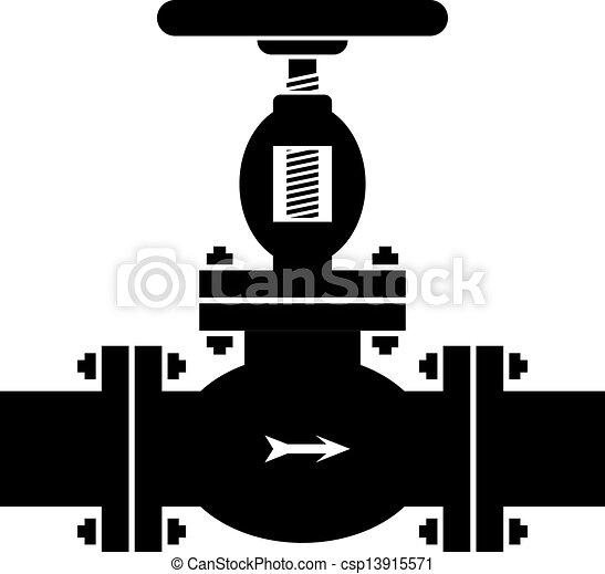 vector industrial valve symbol - csp13915571