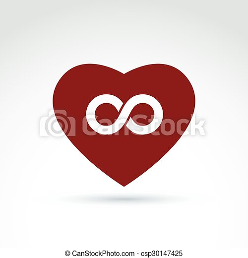 Vector Infinity Icon Eternal Life Idea Illustration Of An