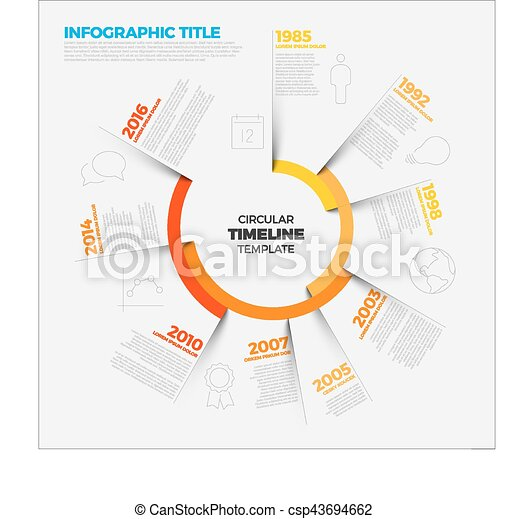 vector infographic circular timeline report template with the