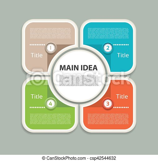 Vector infographic design template business concept with 4 options vector infographic design template business concept with 4 options parts steps or processes can be used for workflow layout diagram number options cheaphphosting Images