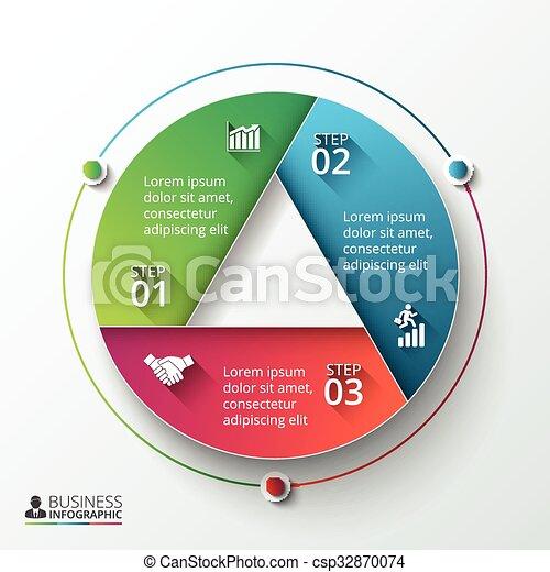 Vector infographic design template. - csp32870074