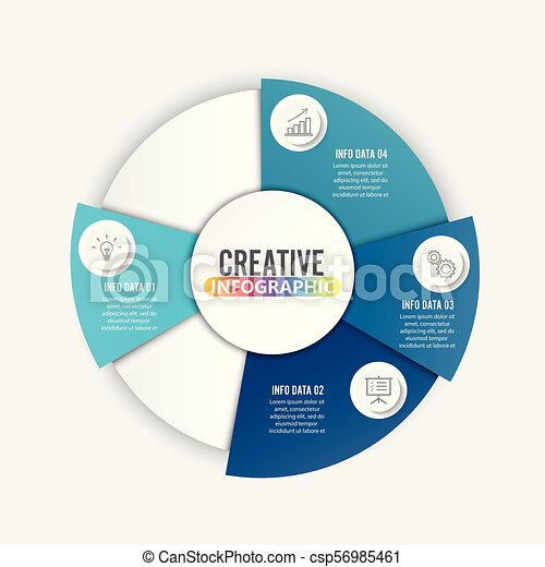 Vector infographic. Template for diagram, graph, presentation and chart. Business concept with 3 options, parts, steps or processes. - csp56985461