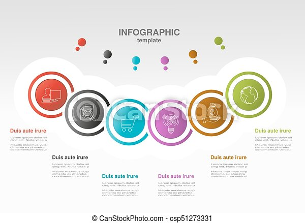 Vector infographic template with circles business concept with vector infographic template with circles business concept with options for workflow layout cheaphphosting Choice Image